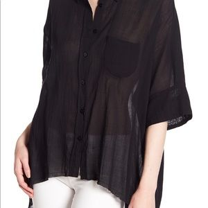 Free People | Sheer Button Down Short Sleeve